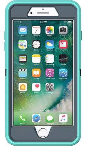 cheap for discount 8083a a496c OtterBox Defender Case iPhone 7 & 8 Plus - Tempest Blue/Mint